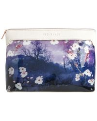 Ted Baker | Blue Annbett Extra Large Washbag | Lyst
