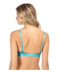 Calvin Klein | Blue Dual Tone Triangle Bra | Lyst