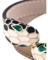 BVLGARI | Gray Serpenti Head Wrap Bracelet | Lyst