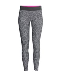 H&M - Black Yoga Tights - Lyst