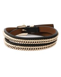 Givenchy | Black Triple Wrap Bracelet | Lyst