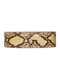 Marni | Brown Runway Maxi Belt In Python | Lyst
