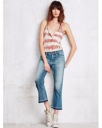 Free People | Blue Summer Of Love Crop Flare | Lyst