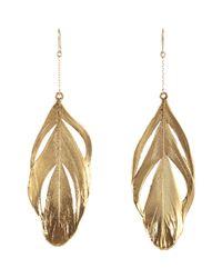 Aurelie Bidermann - Metallic Swan Feathers Drop Earrings - Lyst