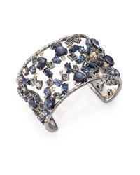 Alexis Bittar | Blue Elements Dark Alchemy Crystal Confetti Cuff Bracelet | Lyst