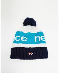 Lyst - New Balance Piste Bobble Hat in Navy in Blue af7d0bb48ec