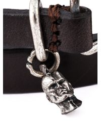DIESEL | Black Double Wrap Bracelet for Men | Lyst