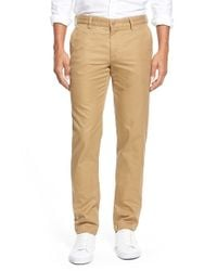 Lacoste | Natural Slim Fit Twill Chinos for Men | Lyst