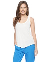 Splendid | Natural Midnight Jersey Zip Back Tank | Lyst