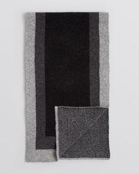 Bloomingdale's | Black Frame Scarf for Men | Lyst