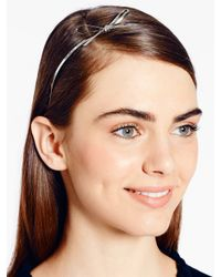 kate spade new york - Metallic Skinny Mini Metal Headband - Lyst