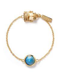 Eddie Borgo | Blue Stripe Agate Cone Stud Bracelet | Lyst