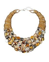 Panacea - Multicolor Mixed-Crystal Collar Necklace - Lyst
