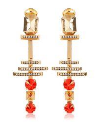 Iosselliani - Orange Deco Clip Earrings - Lyst