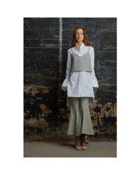Rosie Assoulin - White Kurta Cotton Shirt Dress - Lyst