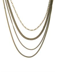 Isabel Marant - Blue Polly Multichain Necklace - Lyst