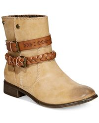Roxy | Natural Skye Ankle Booties | Lyst
