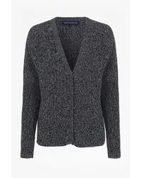 French Connection | Black Naughty Bright Knitted Cardigan | Lyst