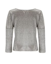 Almost Famous - Metallic Foil Top - Lyst