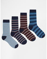 Jack & Jones | Multicolor 4 Pack Socks With Stripe for Men | Lyst