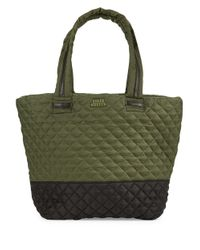 Steve Madden | Green Diamond Quilted Tote | Lyst