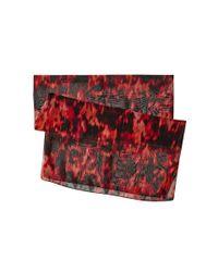 Calvin Klein | Black Floral Haze Chiffon Scarf | Lyst