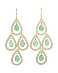 Irene Neuwirth - Green Gemstone Chandelier Earrings - Lyst