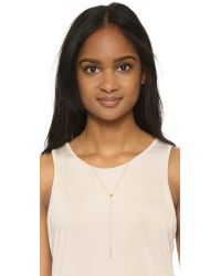 Gorjana | Blue Alphabet Lariat Necklace | Lyst