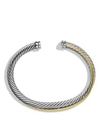 David Yurman - Metallic Crossover Cuff With Gold - Lyst