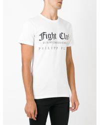 Philipp Plein - White 'don't Cry' T-shirt for Men - Lyst