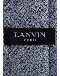 Lanvin - Blue Paint Mark Silk Tie for Men - Lyst