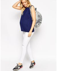 ASOS | Blue Maternity Textured Panel Vest | Lyst