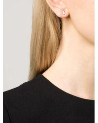 Wwake | Blue Opal And Diamond Stud Earrings | Lyst