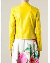 P.A.R.O.S.H. - Yellow Biker Jacket - Lyst