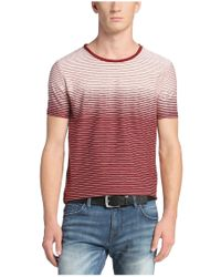 BOSS Orange - Red Regular-fit T-shirt 'tavariz' In Cotton Blend for Men - Lyst
