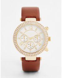 ALDO - Brown Lucea Tan Watch - Lyst