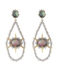 Alexis Bittar | Green Black Mother Of Pearl Doublet Encrusted Dangle Earring You Might Also Like | Lyst
