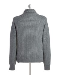 Victorinox - Gray Wool Shawl-collared Sweater for Men - Lyst
