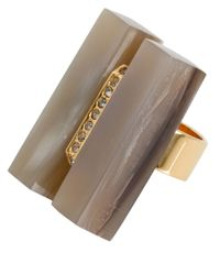 Marni | Metallic Natural Horn Crystal Ring | Lyst