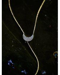 Free People | Metallic Zoe Chicco Womens Diamond Crescent Lari | Lyst