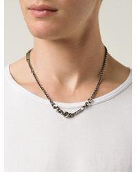 Werkstatt:münchen - Metallic Chain Necklace for Men - Lyst