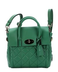 Mulberry - Green Lambskin Mini 'Cara Delevingne' Convertible Shoulder Bag - Lyst