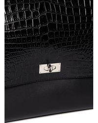 Givenchy - Multicolor 'shark' Large Croc-effect Leather Flap Bag - Lyst