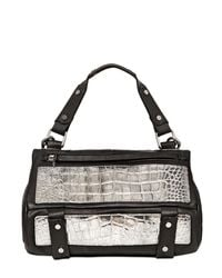 Golden Lane - Metallic Small Duo Crocodile Print Leather - Lyst
