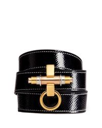 Givenchy | Black 'obsedia' Triple Wrap Coated Leather Bracelet | Lyst
