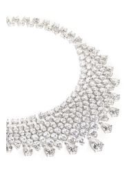 CZ by Kenneth Jay Lane - Metallic Pear And Oval Cut Cubic Zirconia Bib Necklace - Lyst