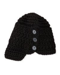 Nobis | Black Madison Toque Hat W/ Button | Lyst