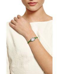 Kimberly Mcdonald - One Of A Kind Light Geode and Irregular Diamond On Kelly Green Macrame Bracelet - Lyst