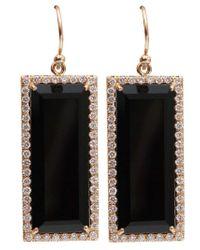 Irene Neuwirth Pink Emerald Cut Onyx Earrings