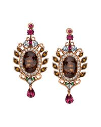 Le Vian | Multicolor 14k Strawberry Gold Smoky Quartz And Multistone Earrings | Lyst